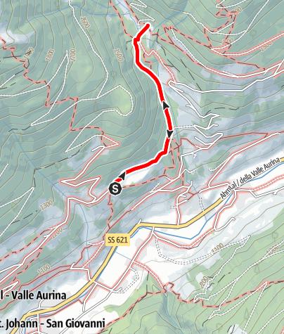 Mappa / Sentieri del sole Valle Aurina - percorso delle streghe