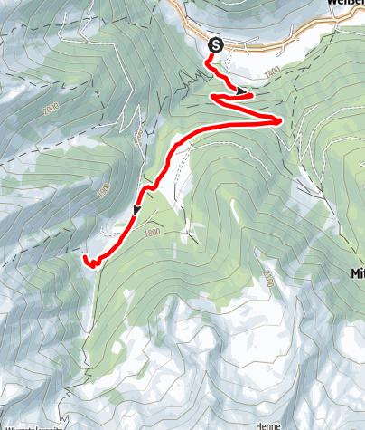 Mapa / Mountainbiketour zur Pircheralm