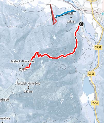 Map / Snowshoe-hiking tour: Segheria - Passo Suis