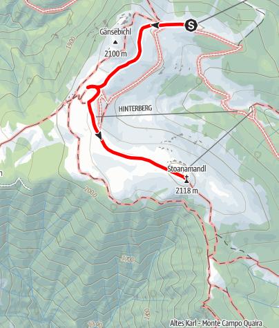 Cartina / Sentiero circolare panoramico Stoaner Mandl a Jochtal - Valles