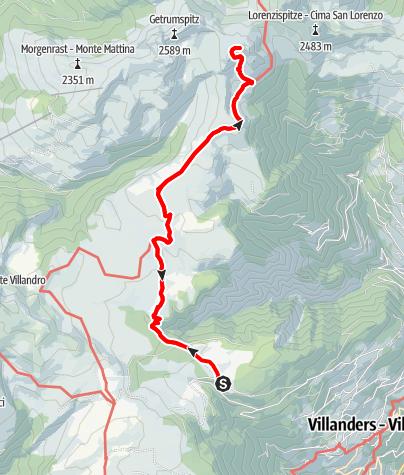 Kaart / Saltnerstein (Gasser Hütte)– Latzfonser Kreuz – Saltnerstein