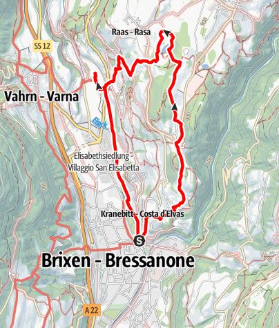 Mappa / Sentiero dei vigneti di Bressanone