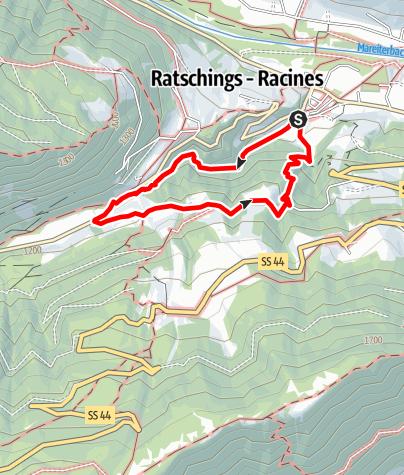 Kaart / Wanderung in der Gilfenklamm