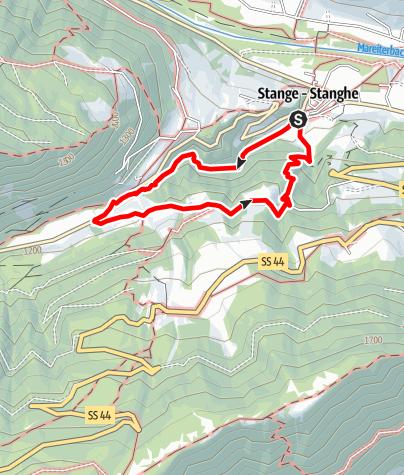 Karte / Wanderung in der Gilfenklamm