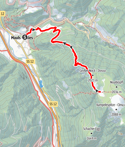 Mappa / Escursione alla malga Planer