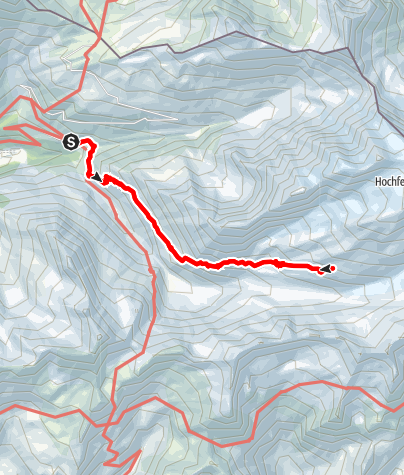 Map / To the Hochfeiler mountain hut