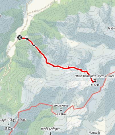 Kaart / Von Pfitsch zur Wilden Kreuzspitze