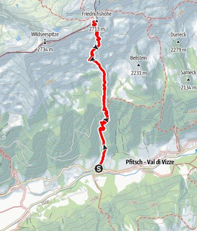 Mapa / Von Platz zur Europahütte