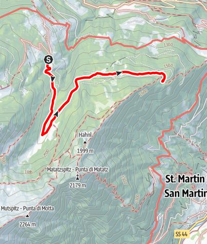Kaart / Wanderung Matatzer/Ulfaser Waalweg
