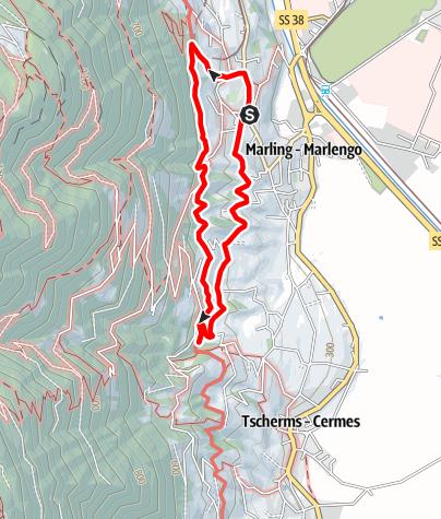 Mapa / Marlinger Waalweg