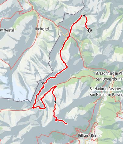 Kaart / Tiroler Höhenweg im Passeiertal