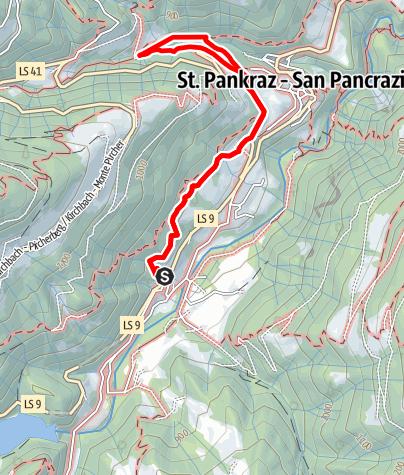 Mapa / Mühlenweg St. Pankraz