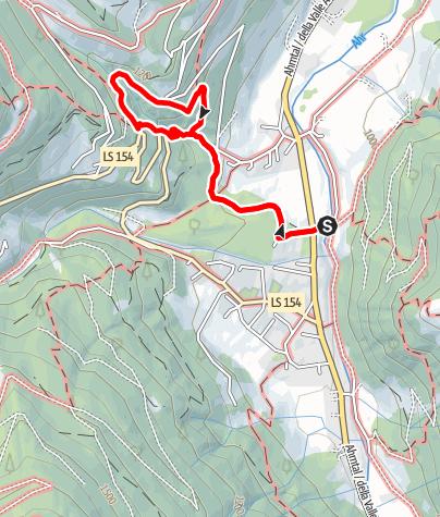Kaart / Ahrntaler Sonnenwege - Wasserfallrunde