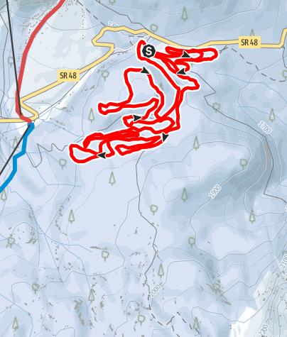 "Map / Track ""Passo Tre Croci"" km. 10"