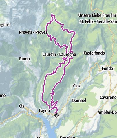 Cartina / Monte Ozol e Monte Ori in MTB