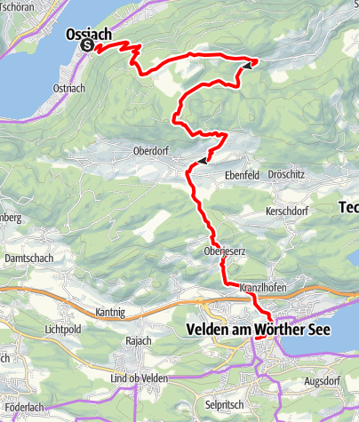 "Karte / E-Bike Tour ""Ossiacher See zum Wörthersee """