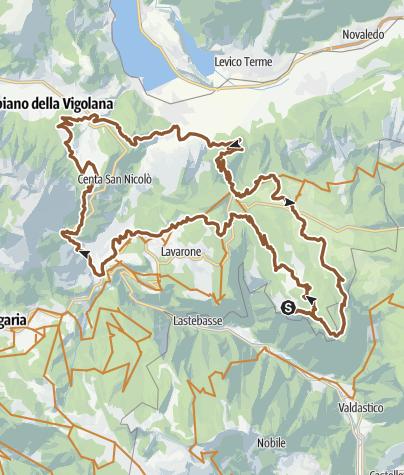 Cartina / 851 - Alpe Cimbra Tour