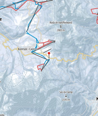 Cartina / Passo Costalunga-Carezza