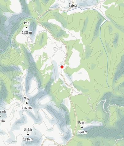 Map / Mountain lodge Vrela, Tušila