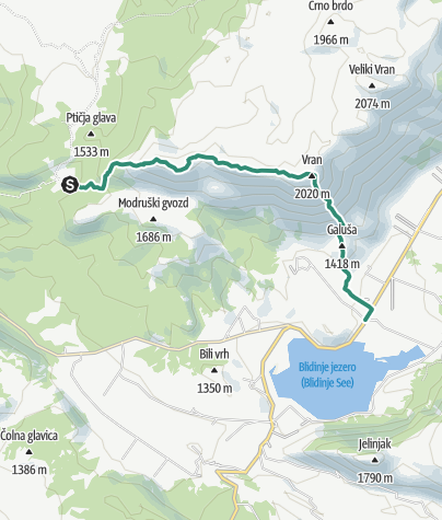Map / Via Dinarica BH-W-04 Vran Mountain and Blidinje Lake
