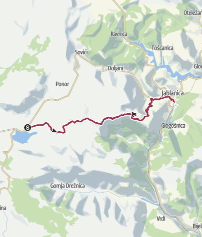 Mapa / Via Dinarica BH-W-05 Čvrsnica mountain and Jablanica city