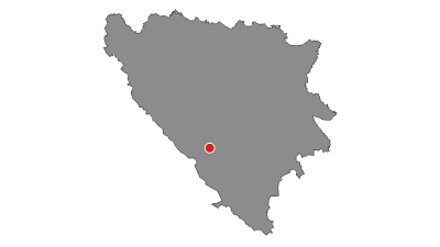 Mapa / Via Dinarica BH-W-05 Čvrsnica mountain and Jablanica city