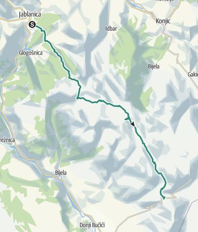 Map / Via Dinarica BH-W-06 Prenj Mountain