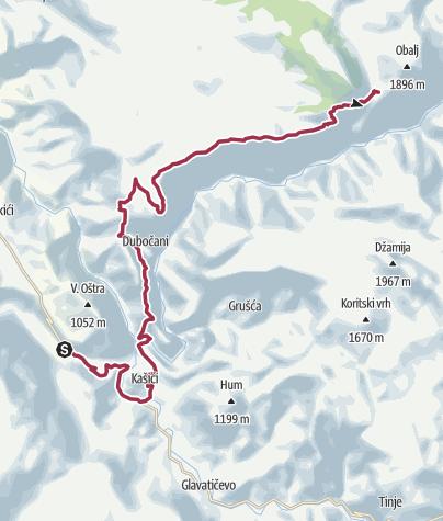 Map / Via Dinarica BH-W-08 Neretva and Rakitnica Canyon to Lukomir village