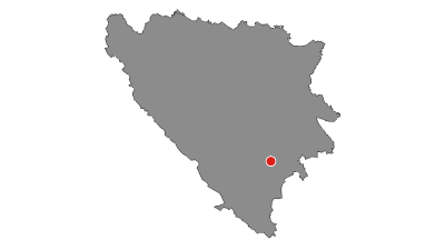 Map / Via Dinarica BH-W-11 via Lelija and Zelengora Mountain to Sutjeska National Park