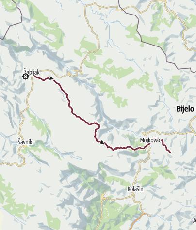 Map / Mountains of Montenegro - Žabljak via Sinjavina to Biogradska gora