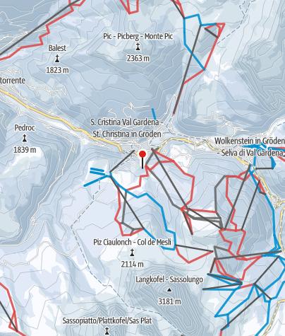 Cartina / Val Gardena/Alpe di Siusi