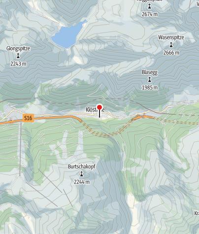 Kaart / Schwimmbad Klösterle