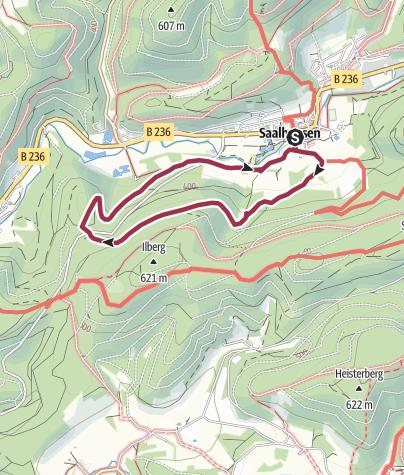 Karte / Dohlbergweg und Rennacken
