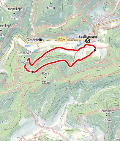 Kaart / Dohlbergweg und Rennacken