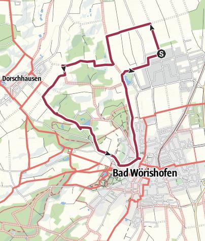 Karte / Von Campingplatz nach Bad Wörishofen