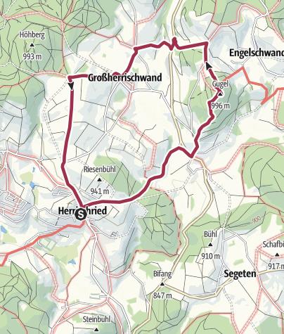 Karte / Herrischried: Kleine Rundwanderung zum Gugelturm