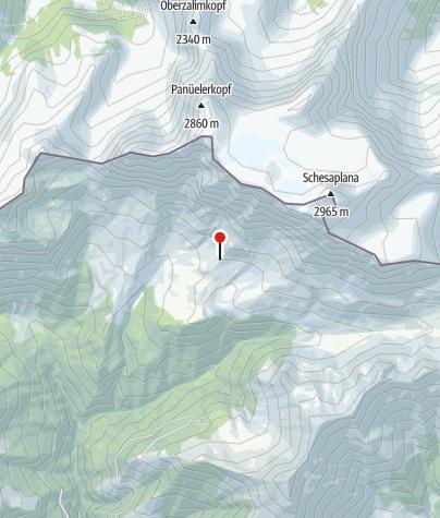 Map / Schesaplanahütte SAC