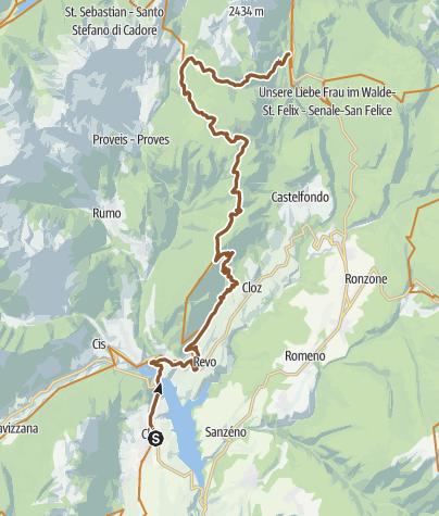 Cartina / Tour de Non MTB Experience: Tappa 01 Cles – Senale