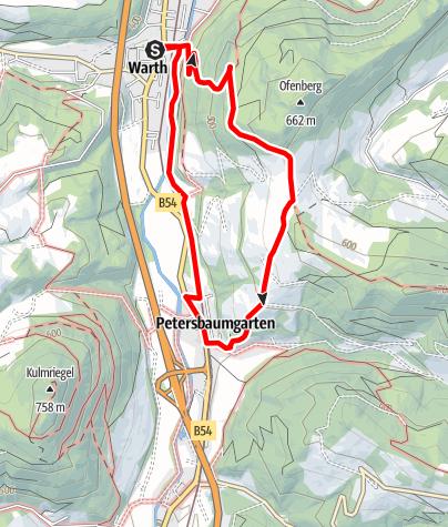 Mapa / Gretel Weg (Warth)