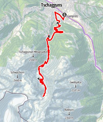 Map / Tilisunaalpe Tour (E-Bike)