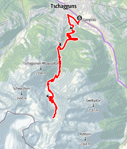 Karte / Tilisunaalpe Tour (E-Bike)