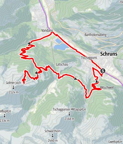 Map / Golm Tour (E-Bike)
