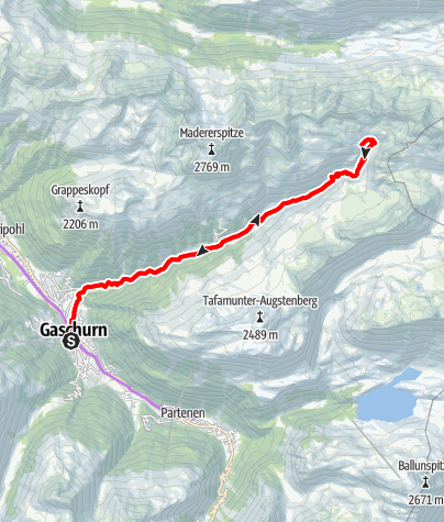 Map / Valschavieltal Tour (E-Bike)