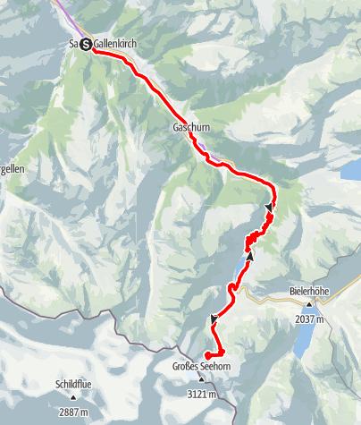 Karte / Saarbrücker Hütte Tour (E-Bike)