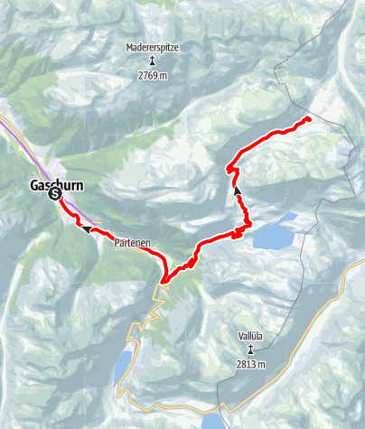 Map / Neue Heilbronner Hütte Tour (E-Bike)