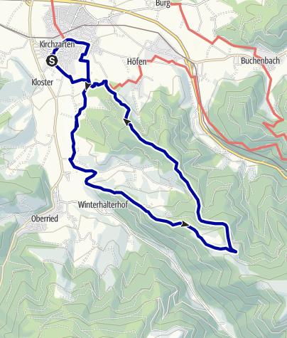 Karte / Über Höfener Hütte und Holzeck zum Giersberg