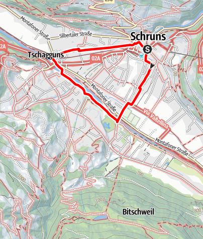 Map / Dorfrunde 1 in Schruns-Tschagguns