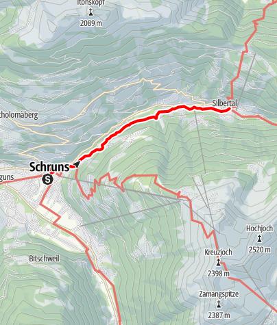 Karte / Von Schruns ins Silbertal