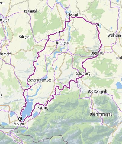Karte / 9. ABK Allgäuer Radltour - Rennradrunde