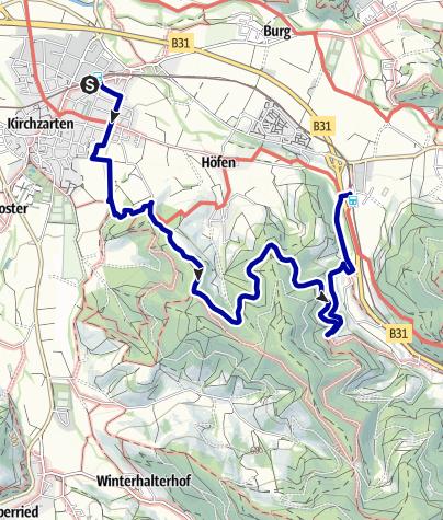 Karte / Über die Giersbergkapelle und das  Sonneck zum Himmelreich
